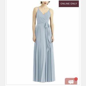 After Six Dresses - After Six V-neckline Bridesmaid Dress in Mist